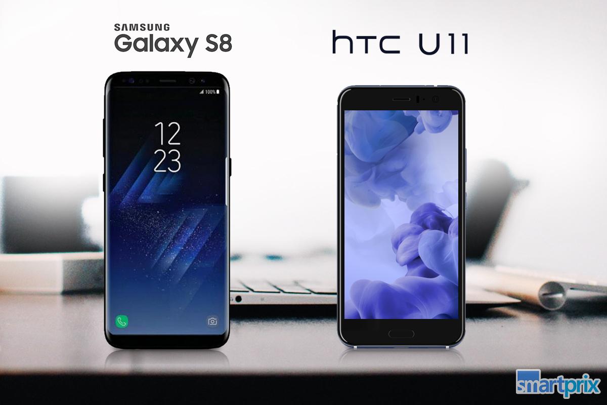 phone comparison htc u11 vs samsung galaxy s8 smartprix blog. Black Bedroom Furniture Sets. Home Design Ideas