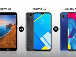 Redmi 7A vs Realme C2 vs Galaxy M10